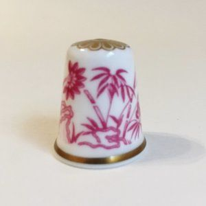 Bamboo Spode Thimble Vintage Fine Bone China